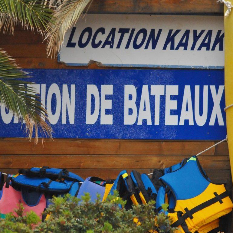 location bateau kayak